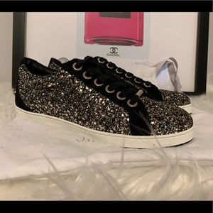 Jimmy Choo Star Glitter Sequin Sneakers